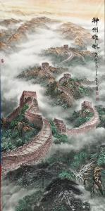 胡爱民国画作品《神州雄风》价格8000.00元