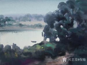 倪敬油画作品《锦江河》议价