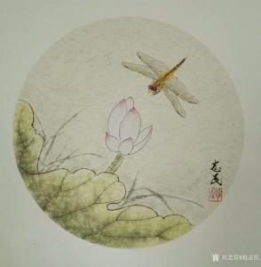 赵志民国画作品《蜻蜓》价格1500.00元