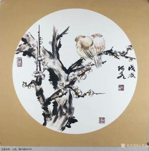 王君永国画作品《花鸟画》价格300.00元