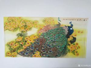胡记领国画作品-《锦上添花》