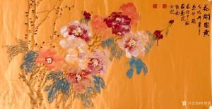 叶仲桥国画《花开富贵》