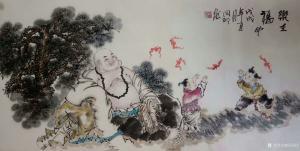 侯同印国画作品《乐在福中》议价