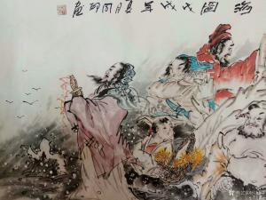 侯同印国画作品《八仙过海》议价