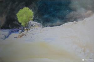 冯保民油画作品《隐居》价格1000.00元