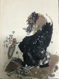 牟凌艳国画作品《达摩面壁图》议价
