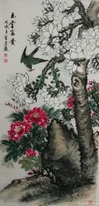 胡宝成国画作品《玉堂富贵》价格1000.00元