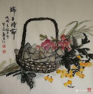 胡宝成国画作品-《端午时节》