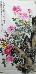 赵永刚国画作品-《美人醉舞》