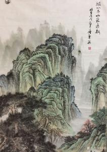 刘传军国画作品《绿水青山气象新》议价