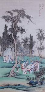 贾国英国画作品《文会图》议价