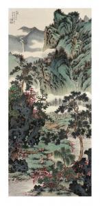 贾国英国画作品《春烟十里溪》议价