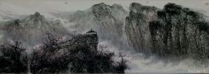 于立江国画《春山流泉》