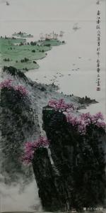 于立江国画《春江水暖》