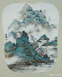 欧凯歌国画作品《绿水青山》议价