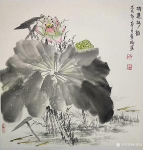 杜章瑞国画作品《青莲荷韵》议价