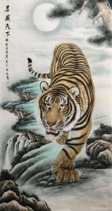王振立国画作品《君威天下》价格1500.00元