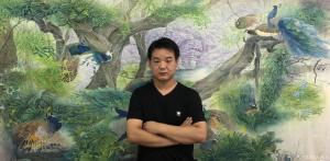 王振立国画作品《孔雀河  预定作品》价格15000.00元