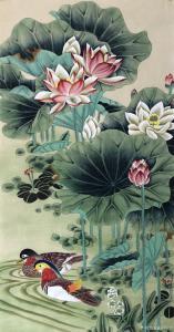 王振立国画作品《荷花 和和美美》价格800.00元