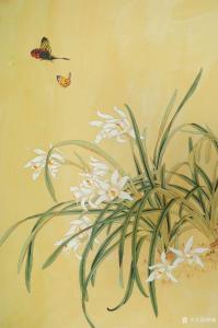 韩梅国画作品《兰花》议价