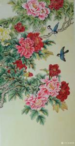 韩梅国画作品《牡丹》议价