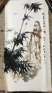 李崇山国画作品《动直不屈竹之操》议价