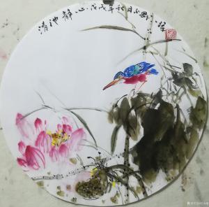 赵永刚国画作品-《静待花开》
