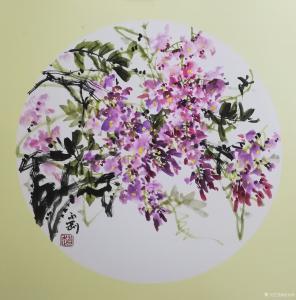 赵永刚国画作品-《花》