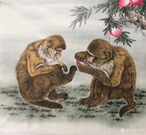 石海博国画作品《猴乐图》价格500.00元