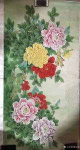 林丽姐国画作品《花开富贵》价格400.00元