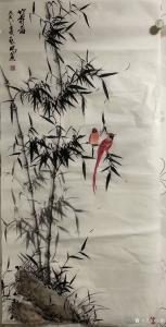启鹏国画作品《竹寿图》价格1200.00元
