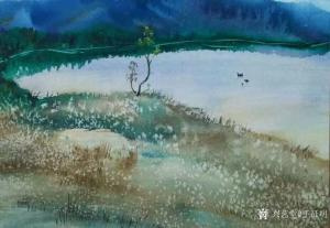 王征明油画《水意画北国之秋》