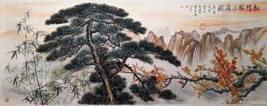 苏进春国画作品《松竹梅三友图》价格1200.00元