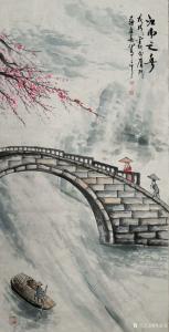 苏进春国画作品《江南之春》价格800.00元