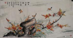苏进春国画作品《梅花-君子以自强不息》价格800.00元
