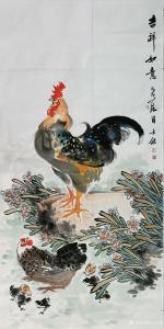 卢士杰国画作品《吉祥如意》价格1200.00元