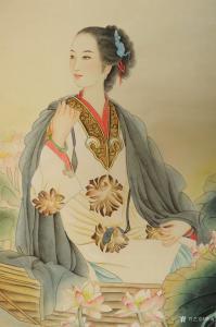 韩梅国画《才女李清照》