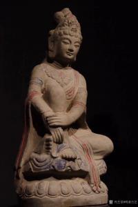 明清古艺雕刻作品-《收藏品:观音石像》