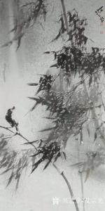 艾宗光国画作品-《【竹子9】作者艾宗光》