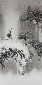 艾宗光国画作品-《【竹子8】作者艾宗光》