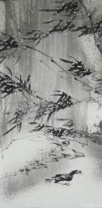 艾宗光国画作品-《【竹子7】作者艾宗光》
