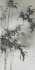艾宗光国画作品-《【竹子6】作者艾宗光》