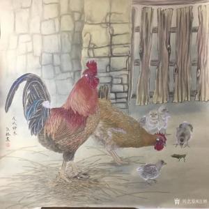 汪林国画作品《鸡-幸福一家》价格600.00元