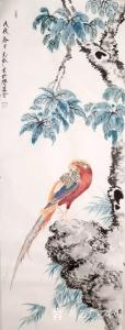 刘欢国画作品《花鸟》议价