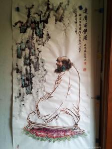 13918556072国画作品《达摩面壁图》价格3000.00元