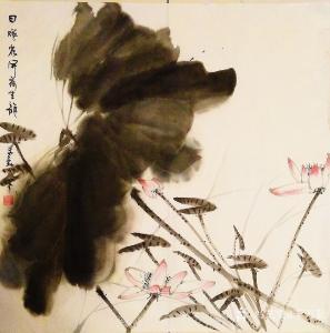 李万勤国画作品《四尺斗方荷花》价格100.00元
