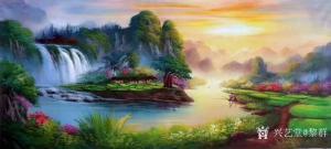 黎群油画《风景油画-鸿运当头》