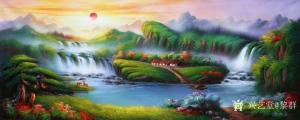 黎群油画作品《风景油画-源远流长》价格1200.00元