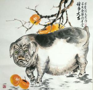 田光荣国画作品《诸事大吉》价格688.00元