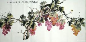 田光荣国画作品《硕果累累》价格800.00元